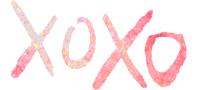 XOXO watercolor